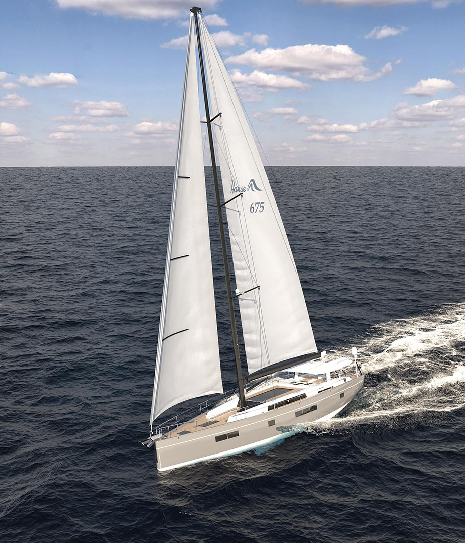 Executive modeling and 3D rendering of sailing boats
